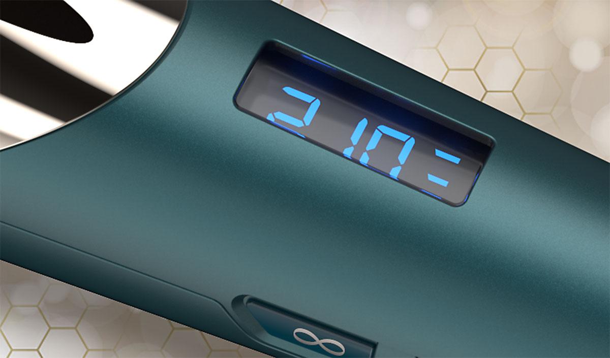 Pantalla digital de control de temperatura del Rizador Advanced Coconut Therapy de Remington