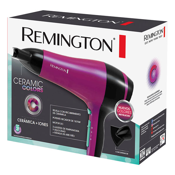 Fotografía de Secador Remington Ceramic Colors 02