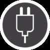 Icono de Cortadoras de cabello de Uso con cable