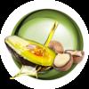 Icono de Plancha alisadora con Tecnología de Aguacate y macadamia