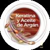 Icono de Plancha alisadora con Tecnología de Keratina y argán