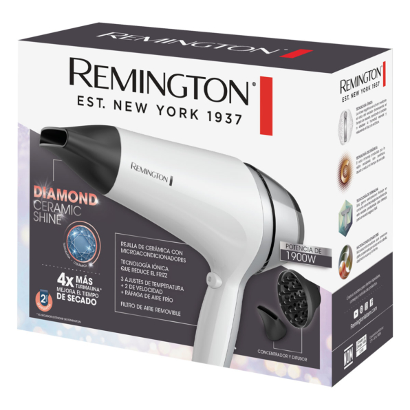 Fotografía de Secador Remington Diamond Ceramic Shine 02