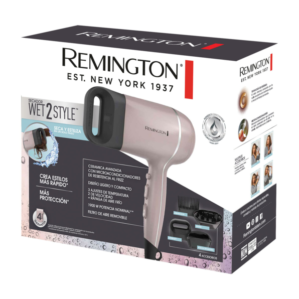 Fotografía de Secador Remington Wet2Style 01